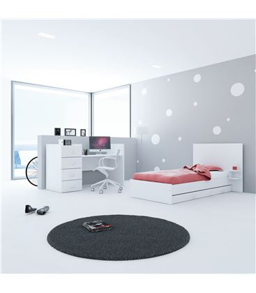 CUNA CONVERTIBLE JUST BUBBLE BLANCO - K374-M7700-DISM-DRAWERS