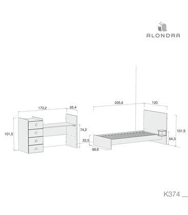 CUNA CONVERTIBLE JUST BUBBLE BLANCO - K374-TECH-DISM