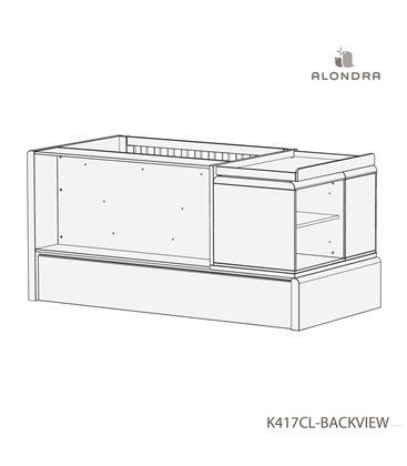 CUNA CONVERTIBLE KURVE ESSENCE PREMIUM CON CAJONES BLANCO - K417CL-TECH-BACKVIEW