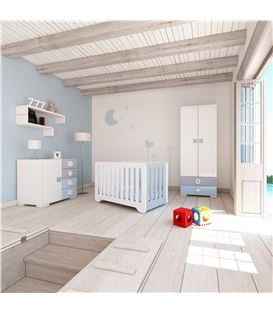 CÓMODA INFANTIL MATHS CELESTE 1 - ROOM-MATHS-MINI-A350-1417