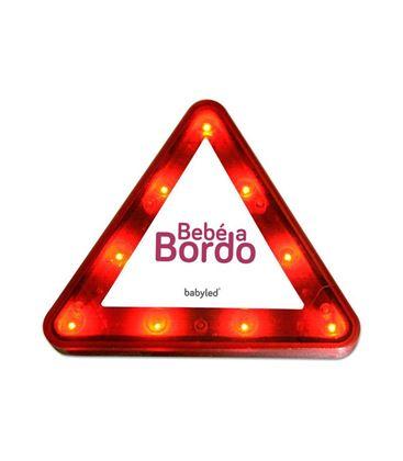 TRIANGULO LUMINOSO BABYLED - BABYLED-TRIANGULO-BEBE-A-BORDO-LUMINOSO