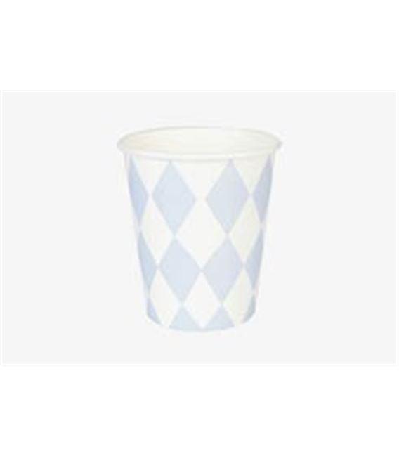 SET 8 VASOS DIAMANTES AZUL CLARITO - MY-LITTLE-DAY_PAPER-CUP-BLUE-DIAMOND2-245X170