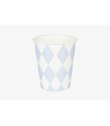 SET 8 VASOS DIAMANTES AZUL CLARITO - MY-LITTLE-DAY_PAPER-CUP-BLUE-DIAMOND2-245X170