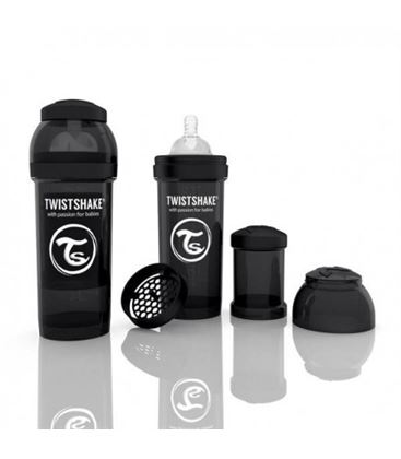 BIBERON TWISTSHAKE ANTICOLICO 260 NEGRO - BIBERON-ANTICOLICO-TWISTSHAKE-NEGRO-260-ML