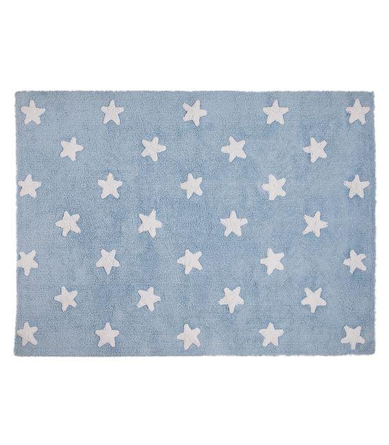 ALFOMBRA STAR BLUE-WHITE 120X160 - ALFOMBRA-ESTRELLAS-AZULBLANCA