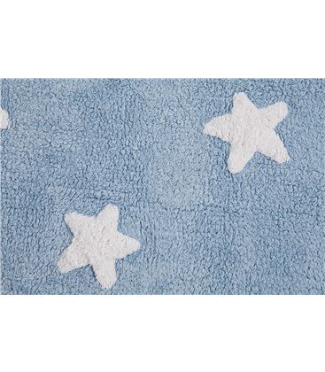 ALFOMBRA STAR BLUE-WHITE 120X160 - ALFOMBRA-ESTRELLAS-AZULBLANCA1