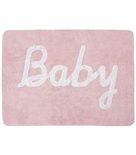 ALFOMBRA BABY PETIT POINT ROSA