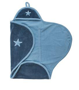 WRAP BLANKET STAR VINTAGE BLUE - VINTAGEBLUE