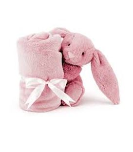BASHFUL PINK BUNNY SOOTHER - PELUCHECONMANTITA