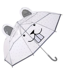KIDS UMBRELLA CLEAR PLASTIC - PARAGUASTRANSPARENTE