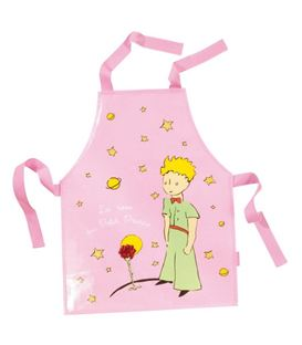 BABERO DE ALGODON PRINCIPITO PVC - PVC-COATED-COTTON-PINK-APRON-THE-LITTLE-PRINCE