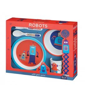 GIFT BOX ROBOTS 5 PIEZAS - )