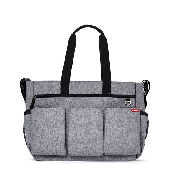 BOLSO SKIP HOP DOUBLE HEATHER GREY - GEMELAR-SKIPHOP