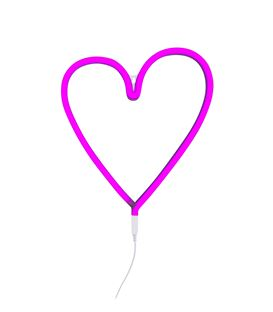 NEON STYLE LIGHT HEART PINK - NEON-HEART-SFEER