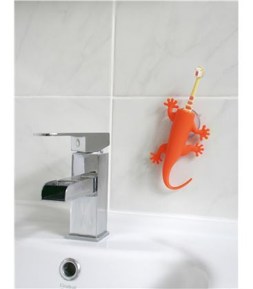LARRY SOPORTE CEPILLO DE DIENTES NARANJA - LIZARD_ORANGE_J-ME2