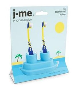BARCO SOPORTE CEPILLOS DE DIENTES AZUL - BOAT-TOOTHBRUSH-HOLDER-PACKAGING_BLUE