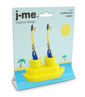 BARCO SOPORTE CEPILLOS DE DIENTES AMARILLO - BOAT-TOOTHBRUSH-HOLDER-PACKAGING