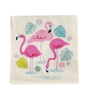 PACK 20 SERVILLETAS DE PAPEL FLAMINGO BAY - SERVILLETAS-FLAMINGO-BAY