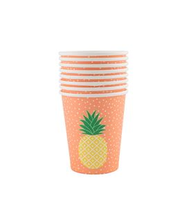 SET DE 8 VASOS TROPICAL SUMMER PINEAPPLE - SET-8-VASOS-TROPICAL-SUMMER-PINEAPPLE