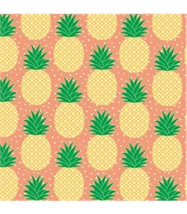 20 SERVILLETAS TROPICAL SUMMER PINEAPPLE - SET-20-SERVILLETAS-TROPICAL-SUMMER-PINEAPPLE