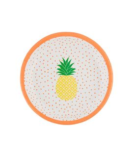SET DE 8 PLATOS TROPICAL SUMMER PINEAPPLE - SET-8-PLATOS-TROPICAL-SUMMER-PINEAPPLE