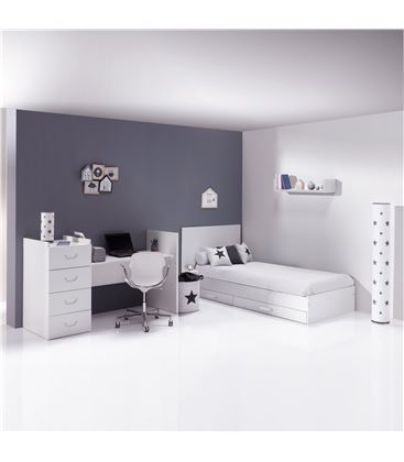 CUNA CONVERTIBLE JUST JOY BLANCO MATE - K379-M7700-DISM-DRAWERS