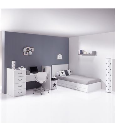 CUNA CONVERTIBLE JUST JOY GRIS MATE - K379-M7778-DISM-DRAWERS