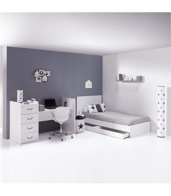 CUNA CONVERTIBLE JUST JOY GRIS MATE - K379-M7778-DISM-DRAWERS-OPEN