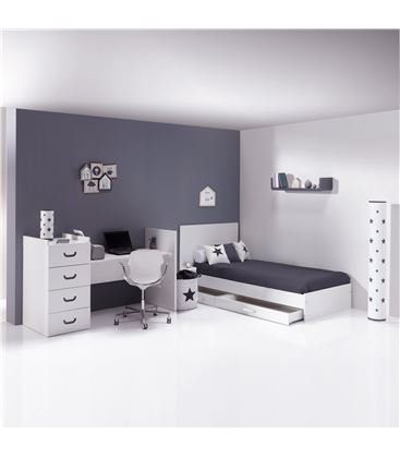 CUNA CONVERTIBLE JUST JOY ANTRACITA MATE - K379-M7779-DISM-DRAWERS-OPEN