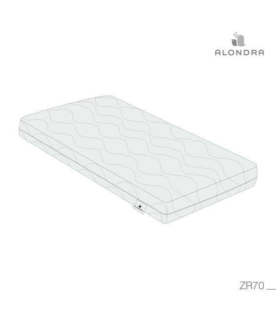 COLCHÓN ORGÁNICO CUNA 60X120 ALONDRA - ZR70-TECH
