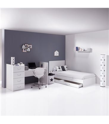 CUNA CONVERTIBLE JUST JOY BLANCO MATE - K379-M7700-DISM-DRAWERS-OPEN