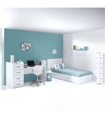 CUNA CONVERTIBLE JUST JOY VERDE MATE - K379-M7781-DISM-DRAWERS