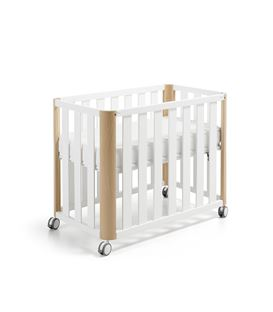 MINICUNA COLECHO DOCO 90X50 BLANCO/NATURAL (SIN TEXTIL)