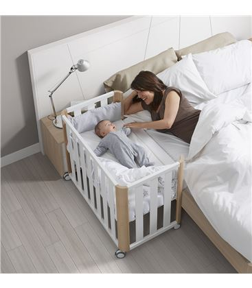 MINICUNA COLECHO DOCO 90X50 BLANCO/NATURAL C/COLCHON (SIN TEXTIL) - DOCO-SLEEPING-COLECHO