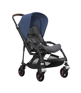BEE5 COMPLETO CHASIS NEGRO SILLA GRIS MELANGE CAPOTA AZUL CIELO - BEE5010-BEE5-CHASIS-NEGRO-GRIS-MELANGE-AZUL