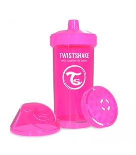 VASO TWISTSHAKE KID CUP ROSA 360ML 12+M