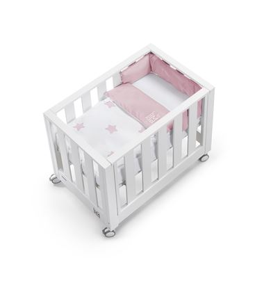 MINICUNA COLECHO LOOK AT ME 80X50 NUIT ROSA - MINICUNA-LOOKATME-NUIT-ROSA