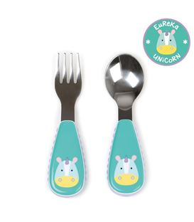 CUBIERTOS ZOOTENSILS UNICORNIO SKIP HOP - SKIPHOP-ZOOTENSILS-KIDS-FORK-AND-SPOON-UNICORN