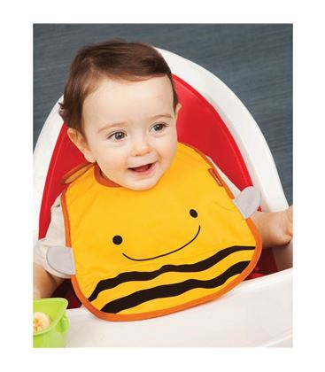 BABERO ZOOBIB BEE SKIP HOP - SKIPHOP-ZOO-TUCK-AWAY-BIB-BEE2