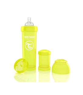 BIBERON TWISTSHAKE ANTICOLICO 330ML AMARILLO - TWISTSHAKE-BIBERON-ANTICOLICO-360-AMARILLO