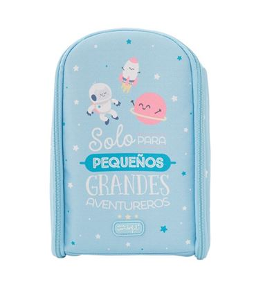 MINI MOCHILA PORTA ALIMENTO AZUL MR WONDERFUL - MOCHILA-PORTALIMENTO-LAKEN-MRWONDERFUL