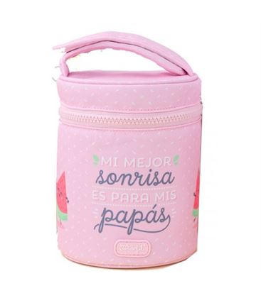 TERMO SOLIDO 1L A. INOX.+ FUNDA ROSA MR WONDERFUL - TERMO-1L-ROSA-MRWONDERFUL