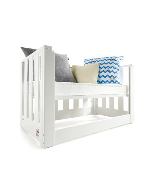 MINICUNA COLECHO LOOK AT ME BLANCO SIN TEXTIL CON COLCHON - MINICUNA-LOOK-AT-ME-BLANCO-SIN-TEXTIL-5