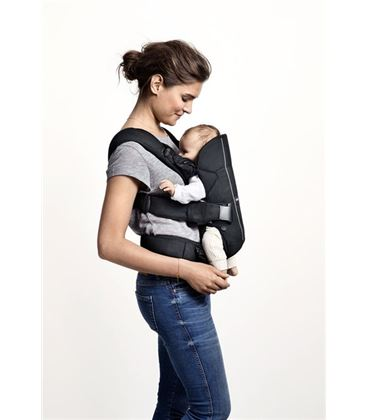 MOCHILA PORTABEBE ONE NEGRO COTTON MIX BABYBJORN - BABY-CARRIER-ONE-NEWBORN-BABYBJORNU