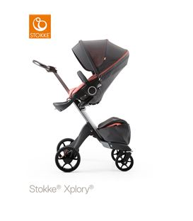 STOKKE XPLORY ATHLEISURE CHASIS PLATA CORAL - STOKKE-XPLORY-ATHLEISURE-CORAL