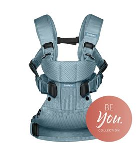 MOCHILA PORTABEBE ONE AIR BABYBJORN AZUL ATARDECER MESH BE YOU