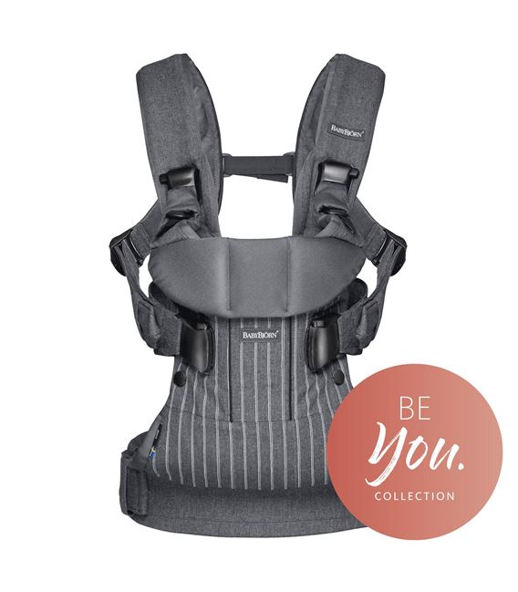 MOCHILA PORTABEBE ONE BABYBJORN RAYAS GRIS BE YOU - PORTABEBE-BE-YOU-RAYAS-GRIS