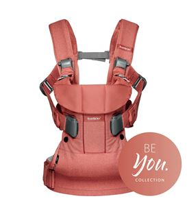 MOCHILA PORTABEBE ONE BABYBJORN ROSA TERRACOTA BE YOU