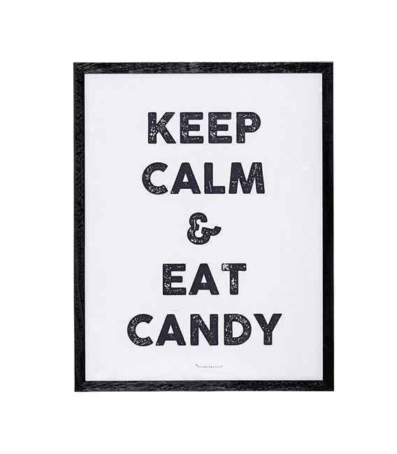 CUADRO KEEP CALM AND EAT CANDY - CUADRO-KEEP-CALM