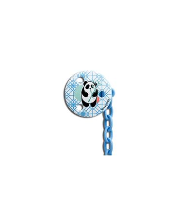 PACK CHUPETE PANDA LATEX + BROCHE REDONDO 6-18M - 304013-2